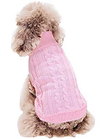 cheap -small pet sweaters knitted dog cat sweater warm dog sweatshirt dog winter clothes kitten puppy sweater& #40;s, pink& #41;