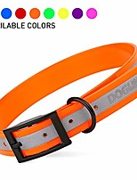 cheap -biothane translucent reflective waterproof dog collar strong coated nylon webbing with black hardware odor- proof for easy care clean fits small medium or large dogs