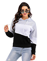 cheap -Women's Sports Pullover Hoodie Sweatshirt Color Block Active Cute Hoodies Sweatshirts  Loose Gray / Going out