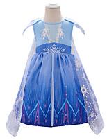 cheap -Elsa Dress Cosplay Costume Girls' Movie Cosplay Halloween Blue Dress Halloween New Year Polyester / Cotton
