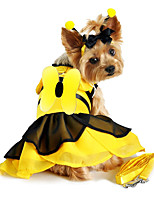 cheap -Dog Costume Color Block Party Cute Christmas Party Dog Clothes Breathable Yellow Red Costume Cotton XS S M L XL / Halloween