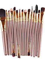 cheap -brush, 15 pcs eye shadow eyebrow lip brush makeup brushes tool & #40;gold& #41;
