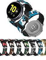 cheap -Silicone Wrist Strap Watch Band for Samsung Galaxy Watch 42mm / 46mm / Galaxy Active 2 40mm 44mm / Gear S3 Classic Frontier / S2 Classic / Gear Sport / Gear 2 R380 R381 R382 Bracelet Wristband