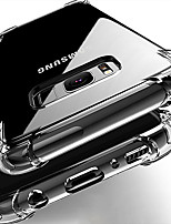 cheap -Samsung Note20 S20 Ultra Four-corner Anti-drop Mobile Phone Case Note8 9 Half-back Transparent TPU Anti-drop S8 9 10Plus Protective Case