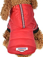 cheap -boomboom winter warm costume jacket coat apparel for pet dog cat puppy (red)