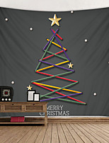 cheap -Christmas Weihnachten Santa Claus Wall Tapestry Art Decor Blanket Curtain Picnic Tablecloth Hanging Home Bedroom Living Room Dorm Decoration Christmas Weihnachten Strip Tree Star Polyester