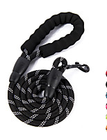 cheap -nylon dog leash, strong leash with highly reflective threads for medium large heavy duty dog leads, easy control with short dog leash for climbing training walking and guiding blind