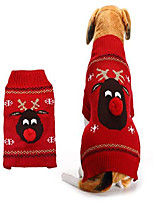 cheap -dog sweater pet clothes for dogs christmas reindeer, red, xxs