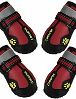 cheap -waterproof dog boots for medium large dogs with safe reflective velcro rugged anti-slip,running dog shoes for paw protection 4 pcs