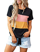 cheap -women& #39;s cotton tee blouse short sleeve casual summer tops t shirt black x-large