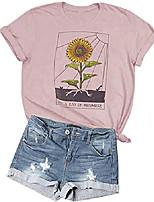 cheap -womens sunflower just ray of the sunshine t-shirt women summer tee teen girls casual tops & #40;m, pink#1& #41;