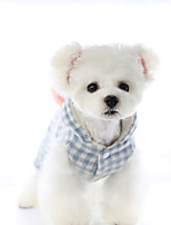 cheap -Dog Coat Jumpsuit Plaid / Check Casual / Daily Cute Casual / Daily Winter Dog Clothes Warm Yellow Blue Costume Polyster XS S M L XL