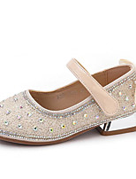 cheap -Girls' Heels Flower Girl Shoes PU Glitter Crystal Sequined Jeweled Little Kids(4-7ys) / Big Kids(7years +) Walking Shoes Rhinestone / Bowknot / Sequin Black / Silver / Beige Spring / Summer