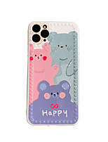 cheap -Case For iPhone 7 8 7 Plus 8 Plus X XS XR XS Max SE 11 11 Pro 11 Pro Max Pattern Back Cover Animal Cartoon TPU