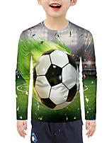 cheap -Kids Boys' Active Basic 3D Print Long Sleeve Blouse Green