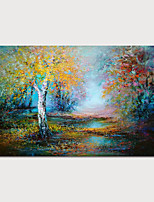cheap -Hand-Painted Abstract Landscape Painting Canvas Art  Painting Modern Art Textured Art  with Stretcher Ready to Hang With Stretched Frame