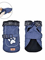 cheap -dog coats dog jackets waterproof dog vest windproof pets clothing cold weather coats small medium large dog sweater winter, blue