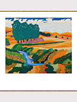 cheap -Art-Framed Pop Cartoon Canvas Printing Modern Abstract landscape PS Oil Painting  Wall Art Suitable for Living Room Decoration Ready To Hang 1 Piece