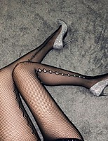cheap -Women's Thin Stockings - Geometric / Sexy Lady / Lace 10D Black One-Size
