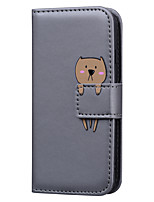 cheap -Case For Samsung Galaxy A6 2018 A7 2018 A8 2018 S10 S10E S10 Plus S9 S9 Plus A5 2018 Card Holder Flip Full Body Cases Solid Colored Cartoon PU Leather