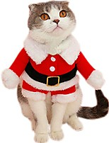 cheap -pet christmas santa claus suit costume for small dogs cats jumpsuit winter coat warm clothes (red, x-large)