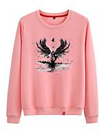 cheap -Women's Sweatshirt Sweatshirt Womens Pullover Sweatshirts Black White Pink Cartoon Crew Neck Cartoon Cute Sport Athleisure Pullover Long Sleeve Warm Soft Comfortable Everyday Use Causal Exercising