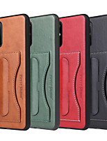 cheap -Case For Samsung Galaxy S8 plus S9 Plus S10 plus S10 E plus S20 plus ultra Card Holder Shockproof  Holder Back Cover Solid Colored PU Leather vintage kickstand