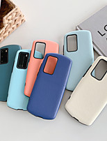 cheap -Case For Huawei honor 20 9x V30 V30 PRO NOVA 5 NOVA 6 NOVA 6SE NOVA 7 NOVA 7 PRO Embossed Back Cover Solid Colored TPU