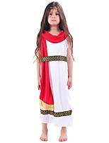 cheap -Cleopatra Dress Cosplay Costume Outfits Kid's Girls' Cosplay Halloween Halloween Festival / Holiday Polyester White Easy Carnival Costumes / Headwear / Headwear