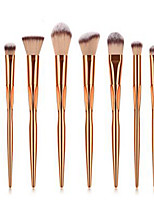 cheap -Professional Makeup Brushes 8pcs Professional Soft Full Coverage Comfy Plastic for Eyeliner Brush Blush Brush Foundation Brush Makeup Brush Eyeshadow Brush