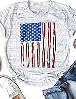 cheap -stars stripes american flag t shirt top women 4th of july short sleeve casual graphic print patriotic tee shirt & #40;white a, small& #41;