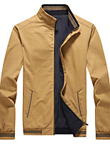 cheap -Men's Hiking Jacket Hiking Windbreaker Outdoor Solid Color Thermal Warm Windproof Breathable Comfortable Jacket Cotton Hunting Climbing Camping / Hiking / Caving White / Black / Army Green / Khaki