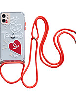 cheap -Case For Apple iPhone 11 / iPhone 11 Pro / iPhone 11 Pro Max Pattern Back Cover Heart / Transparent TPU