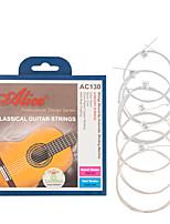 cheap -NAOMI Alice Guitar Strings AC130-N Nylon EBGDAE Single 6 Silver Strings Guitar Parts Classical
