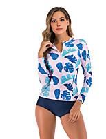 cheap -Women's Rashguard Swimsuit Nylon Swimwear Breathable Quick Dry Sleeveless Swimming Surfing Water Sports 3D Print Summer / Stretchy