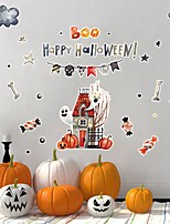 cheap -Halloween Party Halloween Decor Horror Ghost Happy Halloween Wall Stickers Decorative Wall Stickers, PVC Home Decoration Wall Decal Wall Decoration / Removable