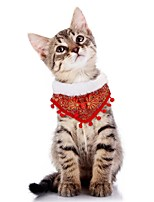 cheap -Dog Cat Dog Scarf Dog Birthday Bandana Hat Embroidered Casual / Daily Winter Dog Clothes Red Costume Plush One-Size