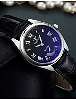 cheap -YAZOLE Women's Quartz Watches Quartz Modern Style Stylish Casual Water Resistant / Waterproof Analog White / Black White Black / PU Leather / Calendar / date / day / Noctilucent
