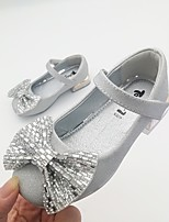 cheap -Girls' Flats Flower Girl Shoes PU Glitter Crystal Sequined Jeweled Little Kids(4-7ys) / Big Kids(7years +) Walking Shoes Bowknot / Sequin Pink / Silver Spring / Fall / Party & Evening