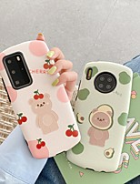 cheap -Case For Huawei P20 P20 PRO P30 P30 PRO P40 P40 PRO PLUS MATE 20 PRO MATE 30 PRO Pattern Back Cover Word Phrase Cartoon TPU Embossed cute