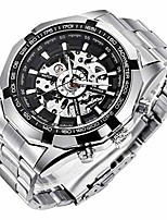 cheap -mens watches, mechanical skeleton stainless steel waterproof automatic self-winding watch for men, luxury x dial steampunk wrist watch
