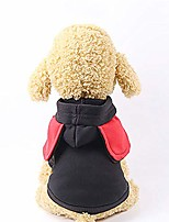 cheap -small dog's soft hoodie onesie for small dog clothes jacket coat casual indoor pjs(black)