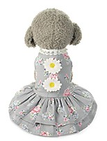 cheap -puppy clothes, pet bow tutu dress lace skirt small dog princess costume gray