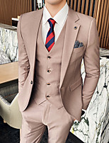 cheap -Tuxedos Tailored Fit Notch Single Breasted One-button Polyester Solid Color