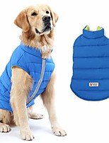 cheap -reversible dog winter coat, dog apparel for cold weather,pet windproof cloth dogs warm classic soft vest jackets,puppy warm winter coats for small medium large dogs