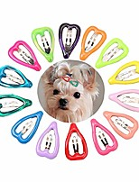 cheap -20pc/pack puppy dog hair clips teacup maltese yorkshire grooming clips dog hair accessories (peach heart)