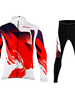 cheap -BIKEBOY Men's Women's Long Sleeve Cycling Jersey Cycling Pants Red Bike Quick Dry Sports Mountain Bike MTB Road Bike Cycling Clothing Apparel / Stretchy