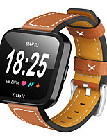 cheap -Watch Band for Fitbit Versa Fitbit Leather Loop Quilted PU Leather Wrist Strap