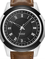 cheap -YAZOLE Men's Sport Watch Quartz Sporty Stylish Casual Water Resistant / Waterproof PU Leather Black / Brown Analog - Black Brown