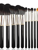 cheap -Professional Makeup Brushes 12pcs Professional Soft Full Coverage Comfy Goat Hair Brush Wooden / Bamboo for Blush Brush Foundation Brush Makeup Brush Eyeshadow Brush